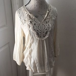 Maurices Cream Blouse Size L